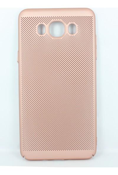 Case 4U Samsung Galaxy J730 Delikli İnce Kapak (kenar Korumalı) Rose Gold*