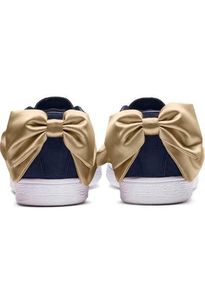 Puma Suede Bow Varsity Wn S Lacivert Altın Kadın Deri Sneaker Ayakkabı