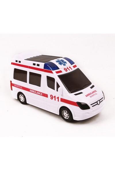 Prestij Oyuncak Oyuncak Ambulans Işıklı Sirenli Kornalı Çarp Dön 11X2Cm