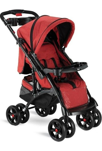 BabyHope Bh-609 Polo Puset Kırmızı Siyah