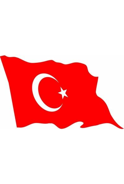 Sticker Masters Dalgalı Türk Bayrağı Sticker(15CM)