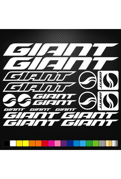 Sticker Masters Giant Bisiklet Sticker Set Etiket