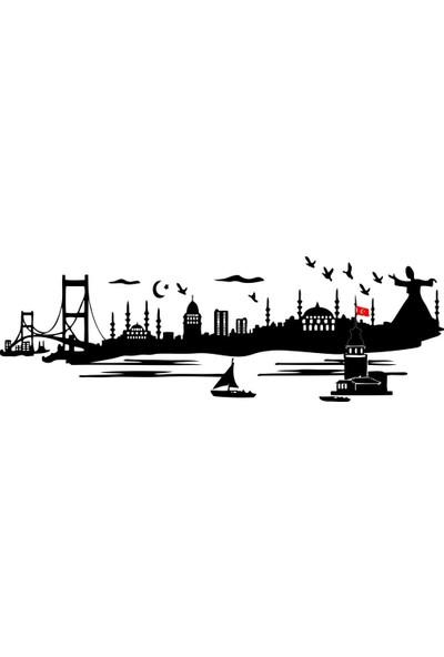 Sticker Masters İstanbul Siluet Semazen Duvar Sticker