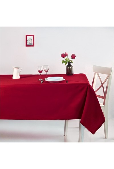 Denizli Concept Roma Masa Örtüsü 170X170 Kırmızı