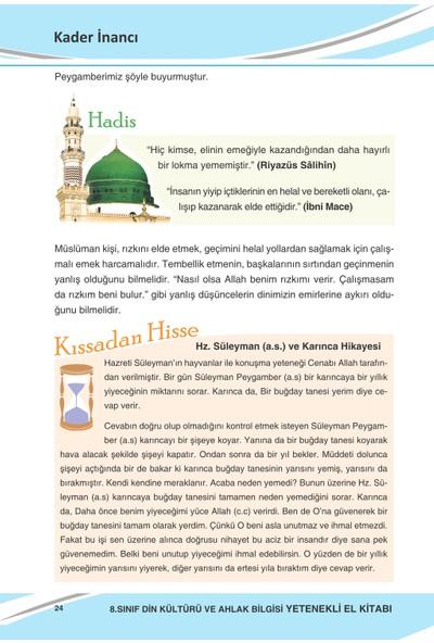 Ddy Yayınları 8.Sınıf Din Kültürü Ve Ahlak Bilgisi Yetenekli El Kitabı Konu Özeti