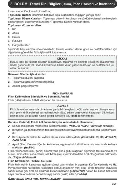 Ddy Yayınları 6.Sınıf Din Kültürü Ve Ahlak Bilgisi Yetenekli Soru Bankası