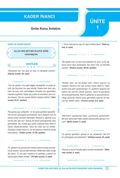 Ddy Yayınları 8.Sınıf Din Kültürü Ve Ahlak Bilgisi Yetenekli Paragraf Soru Bankası