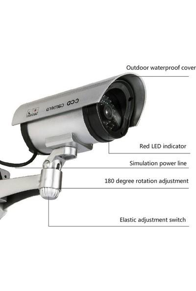 Welfare Gece Görüş Görünümlü Led Işıklı Caydırıcı Kamera Sahte Güvenlik Kamerası