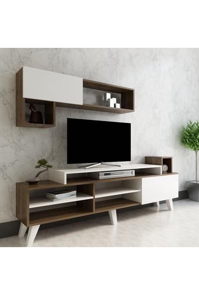 Arnetti Alfa Tv Ünitesi Beyaz Ceviz