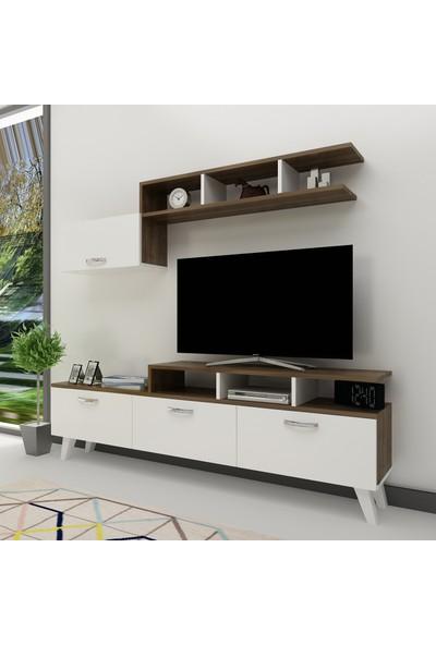 Arnetti Hira Tv Ünitesi Beyaz Ceviz