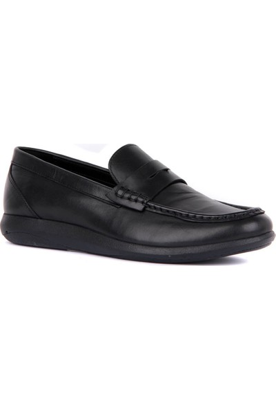 Sail Laker's Siyah Erkek Günlük Deri Ayakkabı