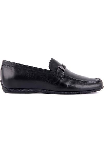Sail Laker's Siyah Deri Erkek Günlük Ayakkabı