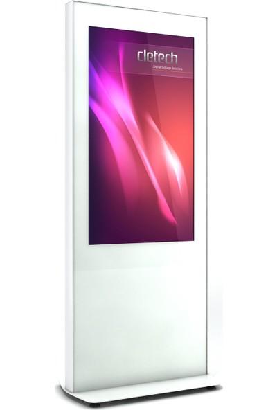 """Cletech Z Serisi 43"""" Digital Signage Totem Kabini - Beyaz"""