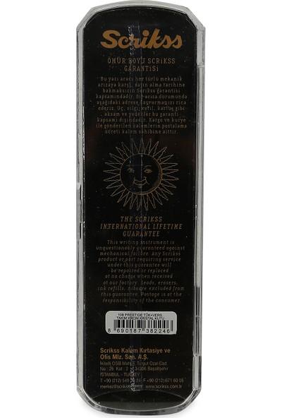 Scrikss 108M Prestige Paslanmaz Çelik Tükenmez + Versatil Kalem (0.5mm