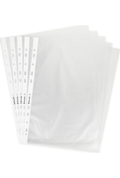 Esselte Poşet Dosya A4 11 Delikli (100 Adet) Buzlu 479915