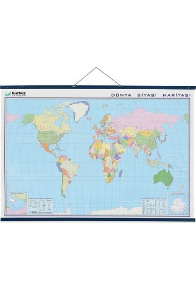 Gürbüz Dünya Siyasi Haritası 70x100 cm 22023