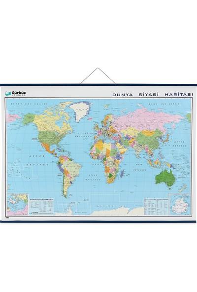Gürbüz 22024 Dünya Siyasi Haritası 100 X 140 Cm