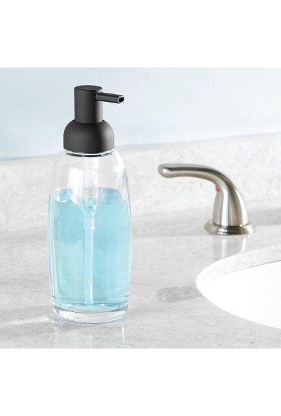 Bosphorus Sıvı Sabunluk Mat Siyah Kaplamalı Model Banyo Aksesuarı