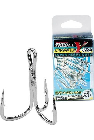 Decoy Y-S82 Standart Treble #3/0 Üçlü Maket Balık İğnesi