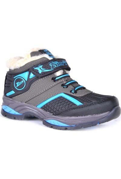 Zümrüt Termal Kürklü Cırtlı Erkek Çocuk Kışlık Bot Ayakkabı