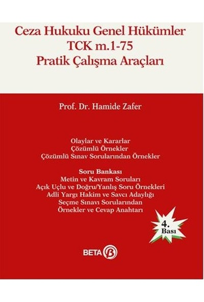 Ceza Hukuku Genel Hükümler TCK m.1-75 Pratik - Hamide Zafer