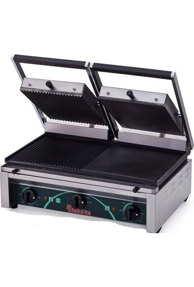 Elektrikli Tost Makinası Çift Kapaklı Büfe Sanayi Tipi