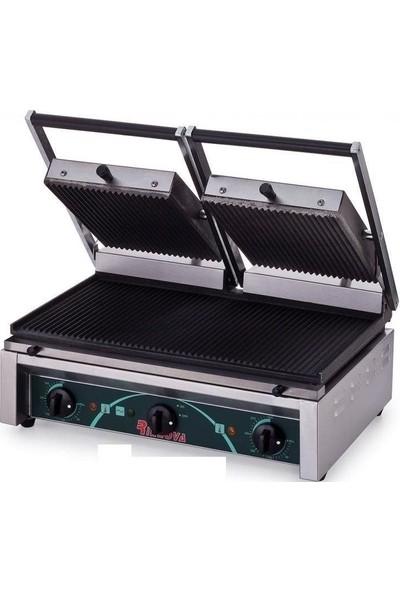 Elektrikli Tost Makinası Çift Kapaklı Cafe Sanayi Tipi