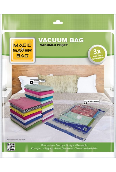 Magic Saver Bag 7'li Vakumlu Poşet Seti