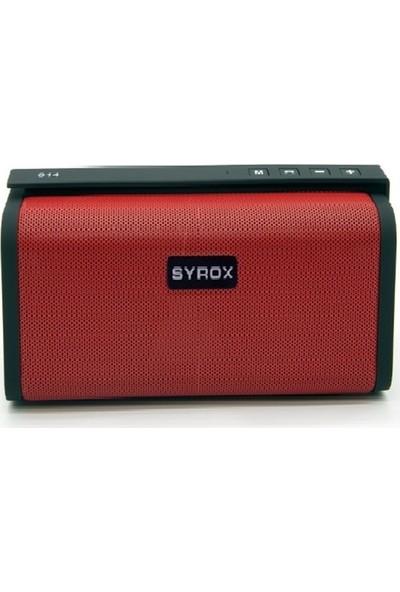 Syrox Radyolu Süper Bass Bluetooth Hoparlör SYX-S14 - Kırmızı