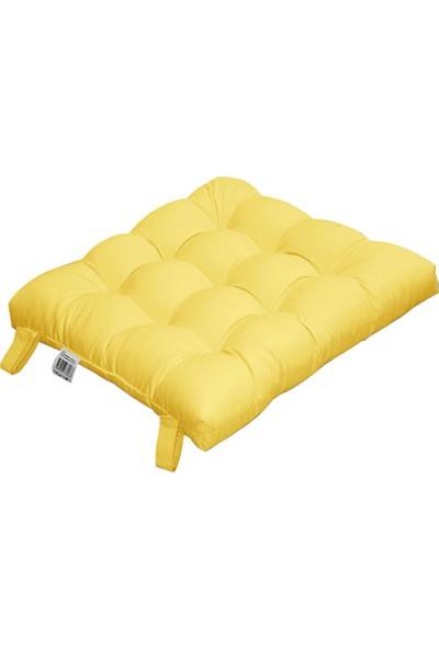 Koza İris Rattan 43x43 Sandalye Minderi Sarı