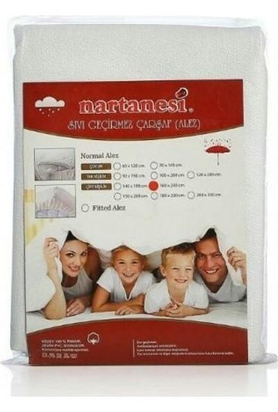 Nartanesi Sıvı Geçirmez 180x200 Pamuklu Alez Beyaz