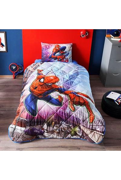 Taç Lisanslı Yorgan Seti-Spiderman