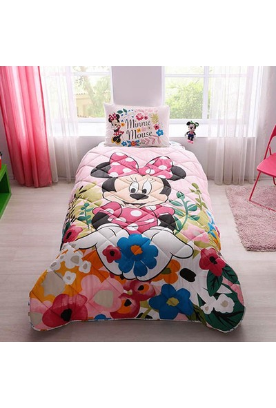 Taç Lisanslı Yorgan Seti-Disney Minnie
