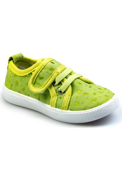 Flubber Kız Keten Ayakkabı Yeşil 22031-335