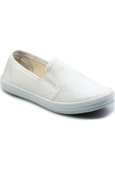 Flubber Kız Keten Ayakkabı Beyaz 22285-002