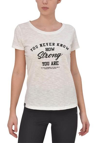 Kinetix Gulia T-Shirt Ekru Kadın T-Shirt