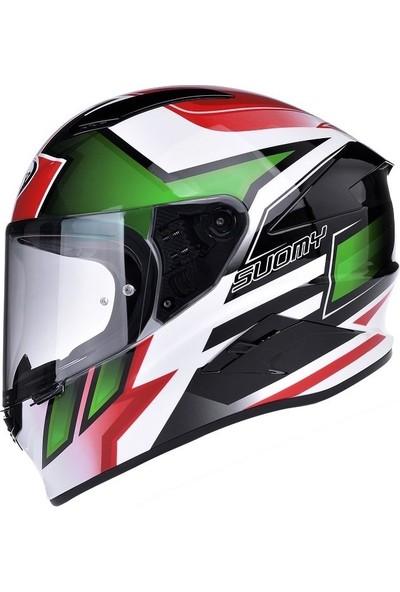 Suomy Speedstar Asymmetric Green/Red Kask