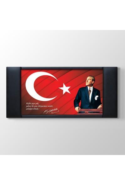 Atatürk Resimli Kurum Okul Özel Sektör Makam Arkası Panosu
