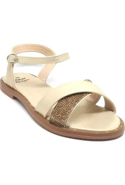 Shop And Shoes 127-P65-Ç Kadın Sandalet Altın