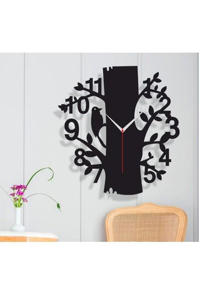 Homecept Ahşap Ağaç Temalı Dekoratif Duvar Saati