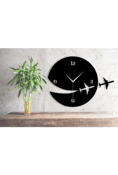Homecept Ahşap Uçak Temalı Duvar Saati