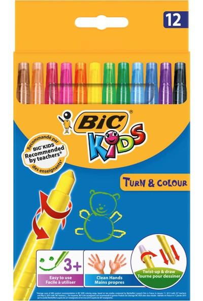 Bic Kids Turn&Colour Çevirmeli Pastel Boya 12 Renk