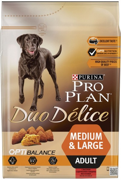 Pro Plan Dog Duo Delice Adult Beef & Rice 2.5 Kg