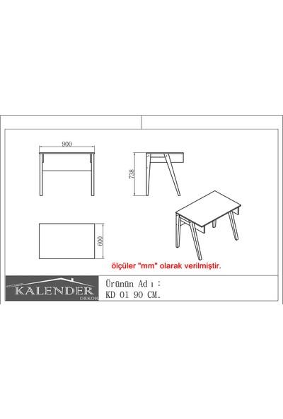 Kalender Dekor KD-01 90cm Ceviz-Beyaz