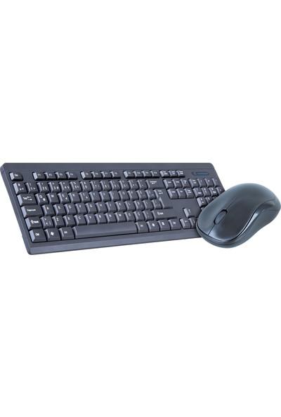 Dexim DAKSKM0011 8133 Slim Button Kablosuz Klavye Mouse Set - Siyah