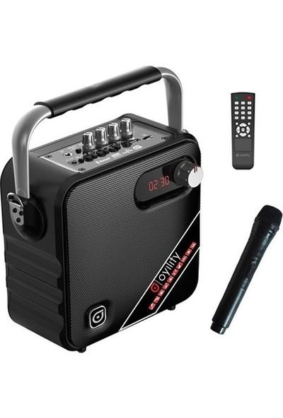 "Oyility T-5 5"" 30 Watt Kablosuz El Mikrofonlu Taşınabilir Şarjlı Ses Sistemi"