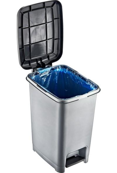 Dünya Plastik 40 lt Slim Pedallı Çöp Kovası