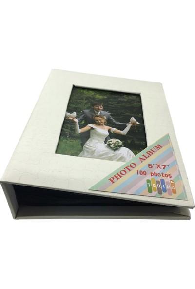 Torima 5 x 7 (13 x 18) 100'lik Fotoğraf Albümü Beyaz