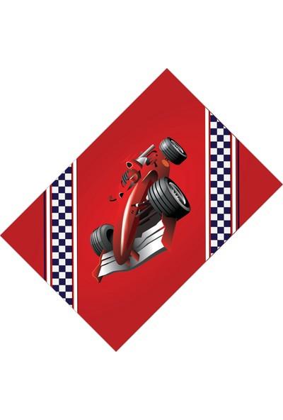 Cici Halı Kırmızı Formula 1 Yarış Araba Erkek Çocuk Odası Halısı-100x150
