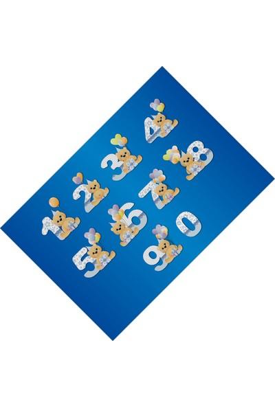 Cici Halı Sayılar Lacivert Eğitici Erkek Çocuk Odası Halısı -80x150